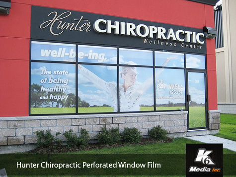 Ottawa Hunter Chiropractic Window Graphics