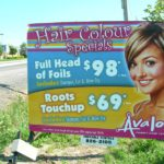 Ottawa Signs - Avalon Family Hair Center Portable Sign Banner