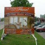 Ottawa Signs - Blinds with Flair Portable Sign Banner