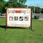 Ottawa Signs - Scrapbooking Cafe Portable Sign Banner